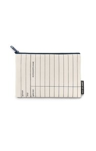 Library Card Canvas Pouch (Natural)