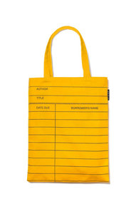 Library Card Tote Bag (Yellow)