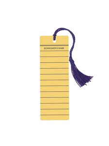 Library Card Tassel Bookmark