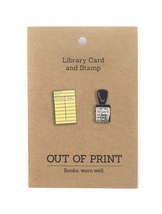 Library Card Enamel Pins
