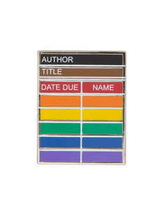 Library Card Rainbow Enamel Pin