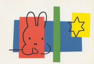 Dick Bruna Postcard - Miffy with Star
