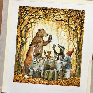 Astrid Sheckels Limited Edition Print - Mr. Bear's Autumn Feast