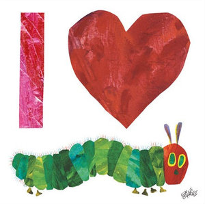 I Heart Caterpillar Canvas Wall Art