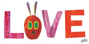Caterpillar in Love Canvas Wall Art