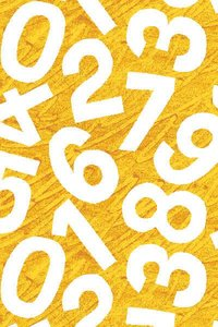 Yellow Numbers Fabric