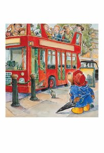 Paddington Postcard - Double Decker Bus