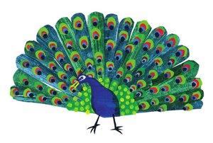 Eric Carle Postcard - Peacock