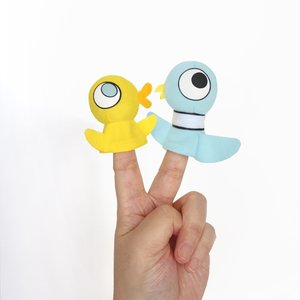Pigeon & Duckling Finger Puppets