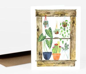 Plants Window Card