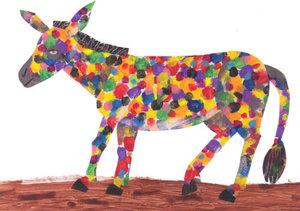 Eric Carle Postcard - Polka Dot Donkey