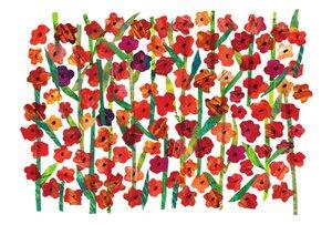 Eric Carle Postcard - Flower Field