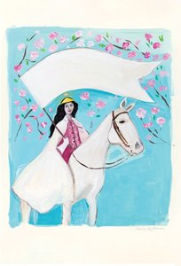 Maira Kalman Postcard - Bold and Brave
