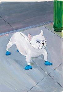 Maira Kalman Postcard - Bulldog