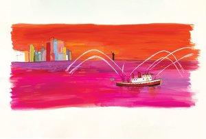 Maira Kalman Postcard - Fireboat