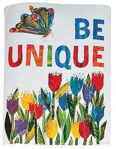 Eric Carle Butterfly & Tulips Poster