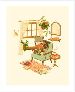 Teagan White Print - A Quiet Day Reading