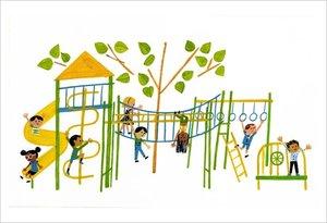 Christian Robinson Print - School's First Day of School Playground