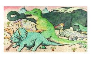 Peter Sis Postcard - Dinosaur