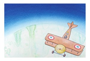 Peter Sis Postcard - The Pilot & The Little Prince