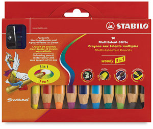Stabilo Woody 3-in-1 Crayon (Set of 10)