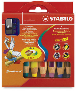 Stabilo Woody 3-in-1 Crayon (Set of 6)