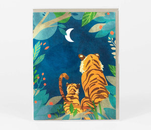 Tigers at Night Card