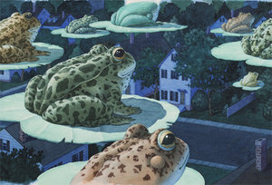 David Wiesner Postcard - Tuesday