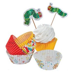 Caterpillar Cupcake Wrappers & Toppers