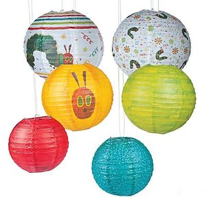 Very Hungry Caterpillar Paper Lanterns (Set of 6)