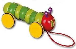 Very Hungry Caterpillar Mini Wood Pull Toy