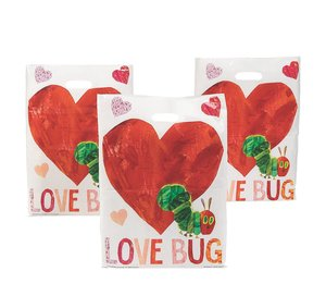 Very Hungry Caterpillar Valentine Plastic Bag