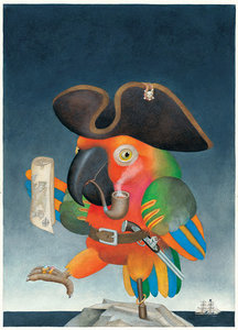 Etienne Delessert Postcard - Parrot