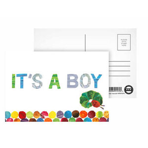 Baby Boy Announcement Postcard