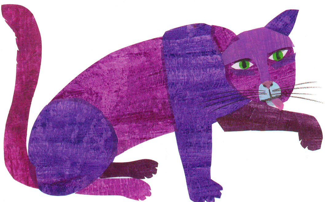 eric carle postcard purple cat the eric carle museum of picture