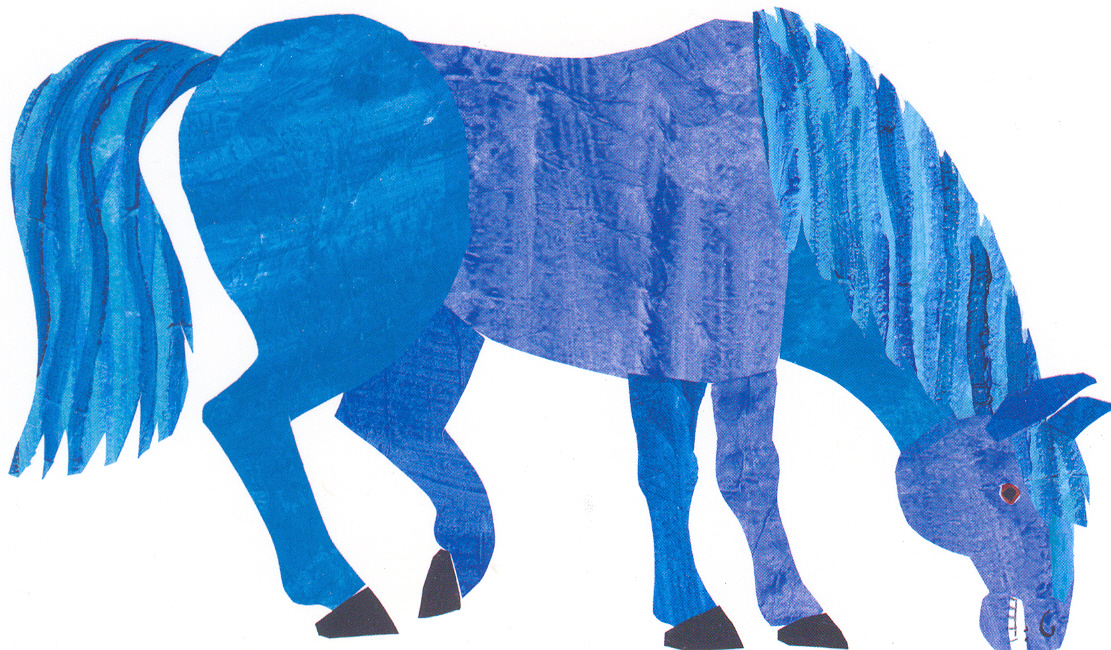 Blue Horse Postcard The Eric Carle Museum Of Picture The Hungry Caterpillar Fruit Coloring Pages
