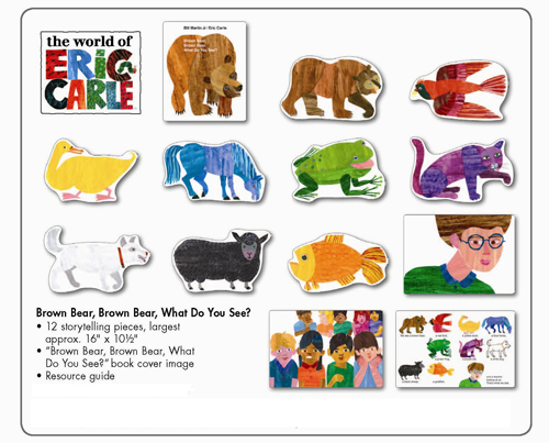 photo regarding Brown Bear Brown Bear What Do You See Printable Book called Brown Undergo The Eric Carle Museum of Envision E book Artwork