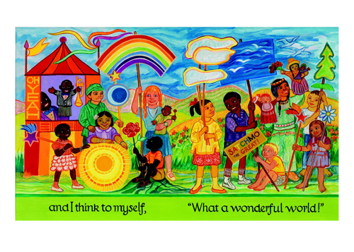 Ashley Bryan Postcard What A Wonderful World The Eric Carle Museum Of Picture Book Art