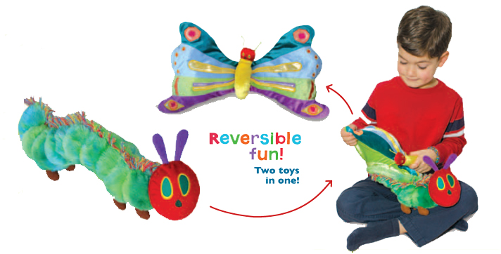 Very Hungry Caterpillar Butterfly Reversible Plush Toy The Eric