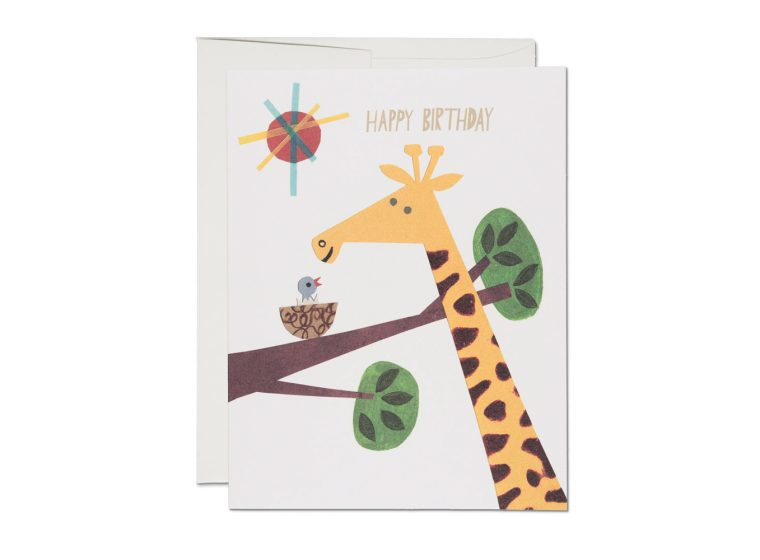 Giraffe Birthday Card The Eric Carle Museum Of Picture Book Art