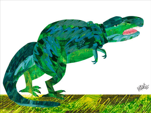 Dinosaur Canvas Wall Art | The Eric Carle Museum of Picture Book Art