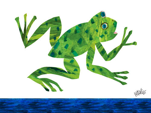 Frog Canvas Wall Art | The Eric Carle Museum of Picture Book Art